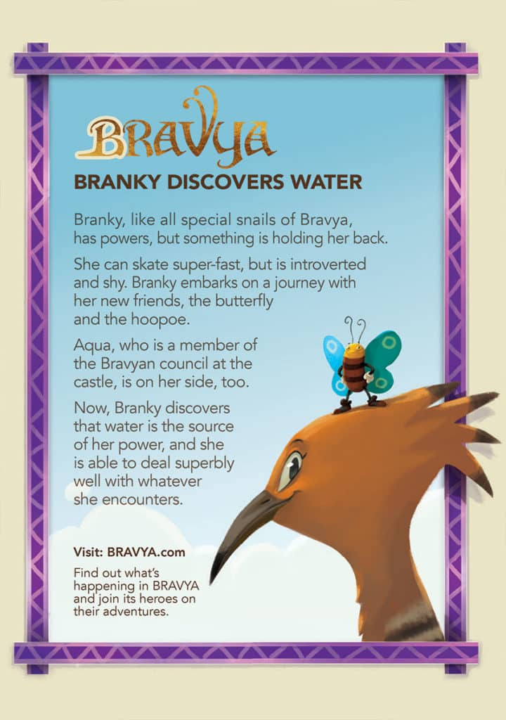 Branky Discovers Water - Back Cover